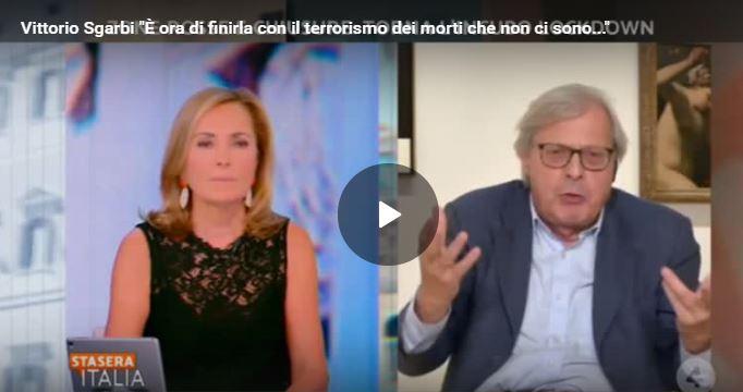 """Vittorio Sgarbi """"È ora di finirla con il terrorismo dei morti che non ci sono…"""""""