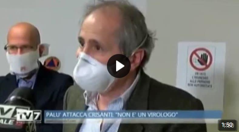 """Dott. Giorgio Palù: """"Crisanti è un mio allievo…Non è un virologo ma un esperto di zanzare"""""""