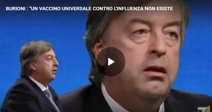 """BURIONI : """"UN VACCINO UNIVERSALE CONTRO L'INFLUENZA NON ESISTE"""