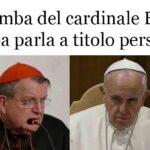 Cardinale Burke: Il papa parla a titolo personale