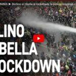 Bufera in Germania: Berlino si ribella al lockdown: la polizia respinge con idranti e lacrimogeni