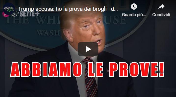 Trump accusa: ho la prova dei brogli – discorso integrale in italiano