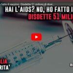 Diagnosi di AIDS: disdette 51 milioni di dosi di vaccino contro il Covid