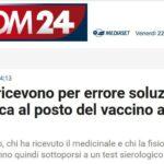 Trento, ricevono per errore soluzione fisiologica al posto del vaccino anti-Covid