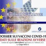 Eurovigilanza: Decimazione tra i vaccinati Covid, 2.787 casi mortali nell'UE, 1.095 negli Stati Uniti