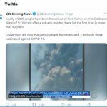 Caraibi esplode vulcano ma si evacuano solo  coloro che possono dimostrare di essere stati vaccinati (CBS)
