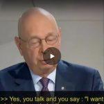 Klaus Schwab, fondatore del World Economic Forum: microchip impiantabili come pass per la salute globale
