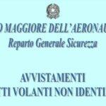 Il sito dell'Aeronautica militare mette online tutti gli avvistamenti di Oggetti Volanti Non Identificati in Italia dal 2001