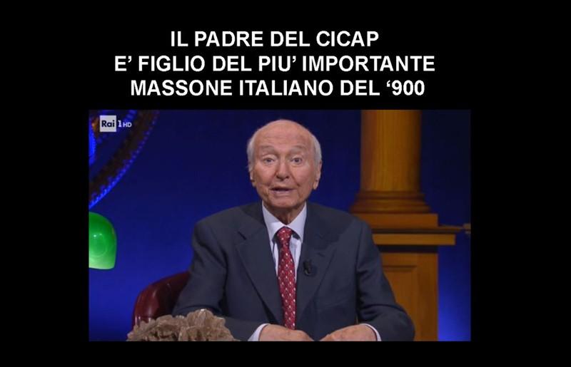 Piero Angela il padre del CICAP, è figlio del più importante massone italiano del '900