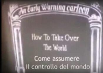Un cartoon degli anni '30 mostra come prendere in mano il mondo con una pandemia indotta