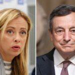 """Giorgia Meloni rilancia:  """"disponibile a votare Draghi alla presidenza della Repubblica"""""""