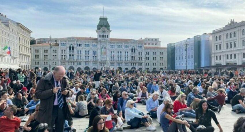 Trieste, prefettura di nuovo in allerta: attesi 20mila No Green Pass per una manifestazione