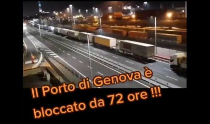 Porto di Genova bloccato da 72 ore